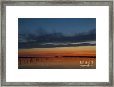 Fishing Weirs  Framed Print by Alana Ranney