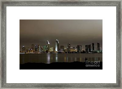 Fishing With A View Framed Print by Jennifer Ramirez