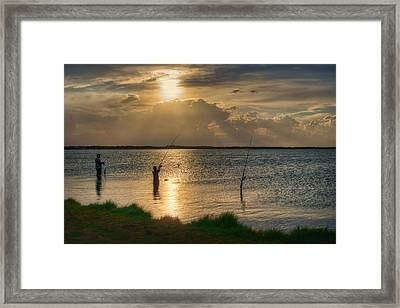 Fishing With Dad Framed Print by Nikolyn McDonald