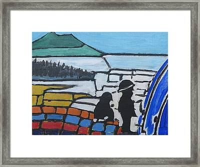 Fishing With Dad Framed Print by Richard Dorling