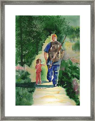Fishing With My Dad Framed Print by Sharon Mick