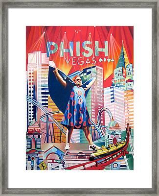 Fishman In Vegas Framed Print by Joshua Morton