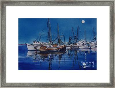 Framed Print featuring the painting Fishmoon by Karol Wyckoff
