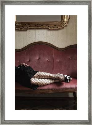 Fishnet Tights Framed Print by Joana Kruse