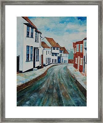 Fishpool Street - St Albans - Winter Scene Framed Print