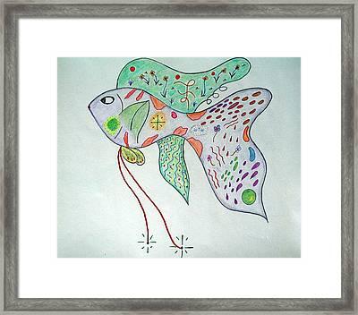 Fishstiqueart 2009 Framed Print by Elmer Baez