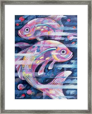 Fishstream Framed Print by Sarah Porter