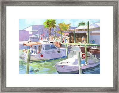 Fishtown Festival Framed Print by Kris Parins
