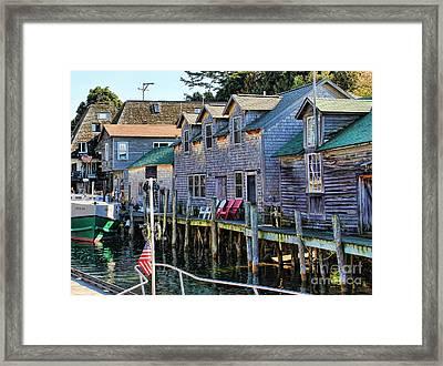 Fishtown Leland Michigan Framed Print