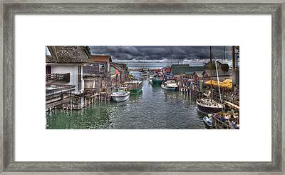 Fishtown Panorama Framed Print
