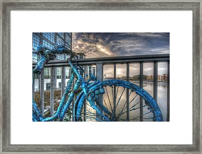 Fishy Bike Framed Print by Nathan Wright