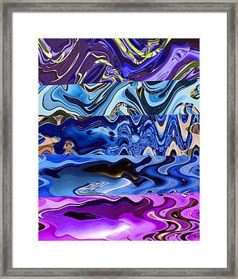 Fishy Wave Framed Print