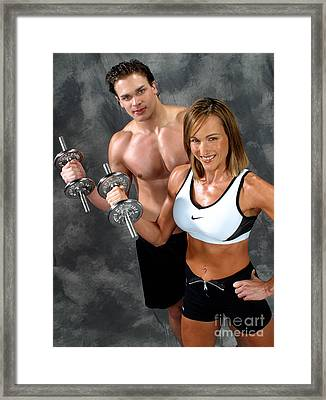 Fitness Couple 17-2 Framed Print by Gary Gingrich Galleries