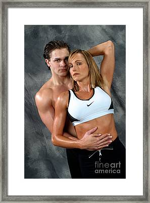 Fitness Couple 27 Framed Print by Gary Gingrich Galleries