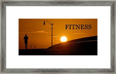 Fitness Framed Print by David Lee Thompson