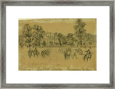Fitz-john Porters Hdquarters, 1862 July Framed Print by Quint Lox