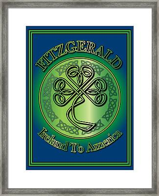 Fitzgerald Ireland To America Framed Print by Ireland Calling