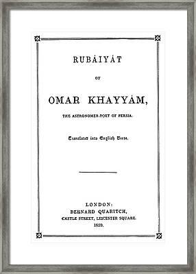 Fitzgerald Titlepage, 1859 Framed Print by Granger