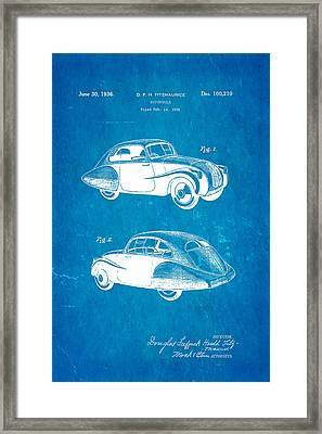 Fitzmaurice Automobile Patent Art 1936 Blueprint Framed Print by Ian Monk