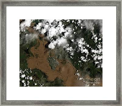 Fitzroy River Flooding Australia  Framed Print by Science Source