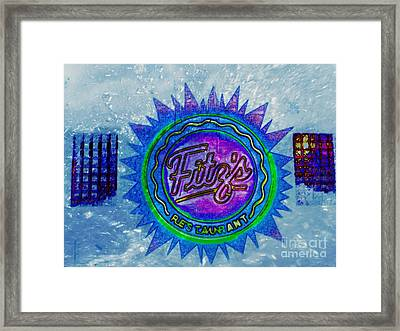 Fitz's Inverted With A Splash Framed Print