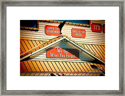 Five And Dime Framed Print