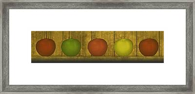 Five Apples  Framed Print by David Dehner