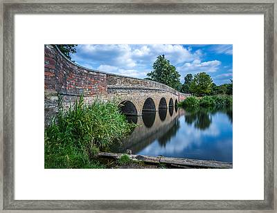 Framed Print featuring the photograph Five Arches Bridge. by Gary Gillette