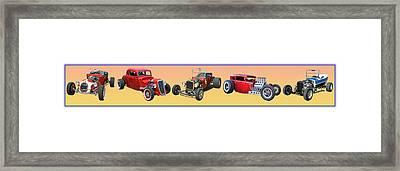 Five Bad Big Boys Rides Framed Print by Jack Pumphrey