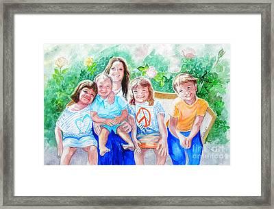 Five Cousins Framed Print by Susan  Clark