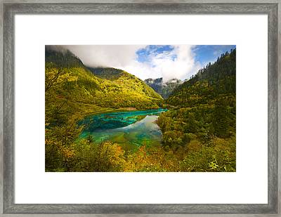 Five Flower Lake Framed Print by Ng Hock How