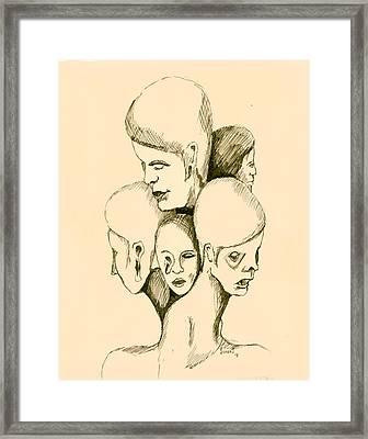 Five Headed Figure Framed Print by Sam Sidders