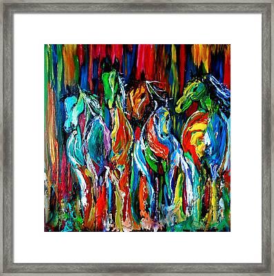 Five Horses Framed Print