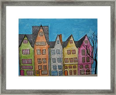 Five In A Row Framed Print by Marcia Weller-Wenbert