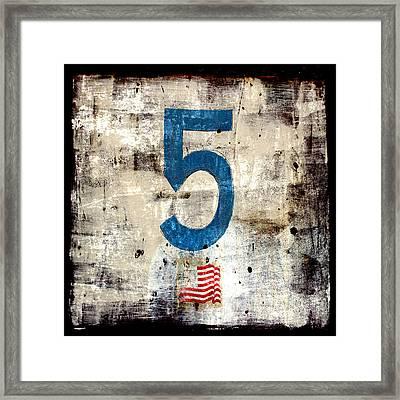 Five On The Flag Framed Print by Carol Leigh