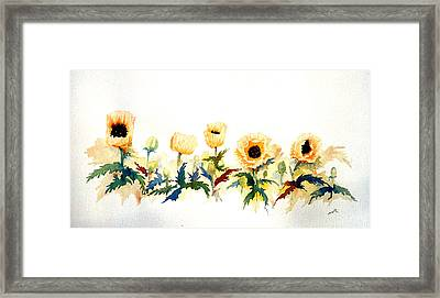 Five Poppies Framed Print by William Renzulli