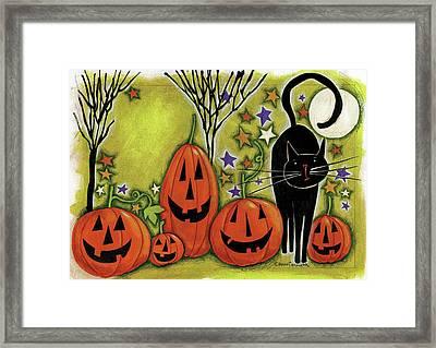 Five Pumpkins Framed Print by Anne Tavoletti