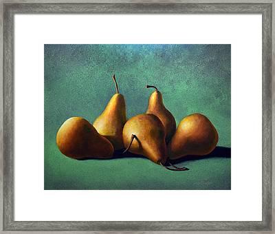 Five Ripe Pears Framed Print by Frank Wilson