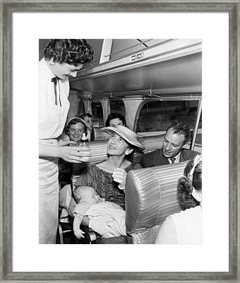 """""""five Star"""" Luxury Bus Service Framed Print by Underwood Archives"""