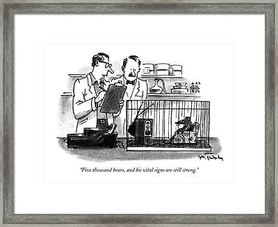 Five Thousand Hours Framed Print by Mike Twohy