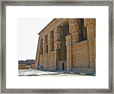 Five Thousand Year Old Temple Of Hathor In Dendera- Egypt Framed Print
