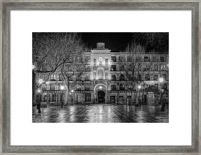 Five Till Seven In Black And White Framed Print
