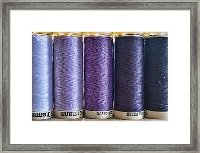 Five Times Purple Framed Print