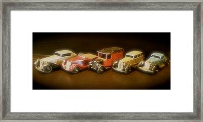 Five Toys From The Forties Framed Print