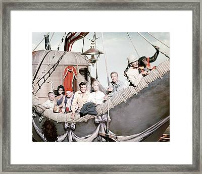 Five Weeks In A Balloon  Framed Print by Silver Screen