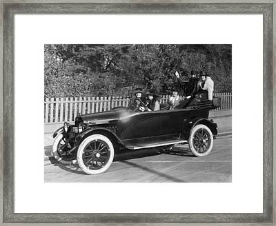 Five Women Out For A Drive Framed Print by Underwood Archives