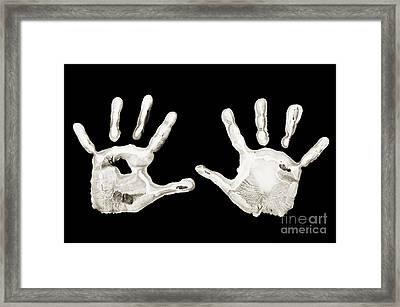Five Years Old - Creative - Hands - First Painting Framed Print by Andee Design