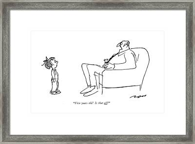 Five Years Old! Is That All? Framed Print