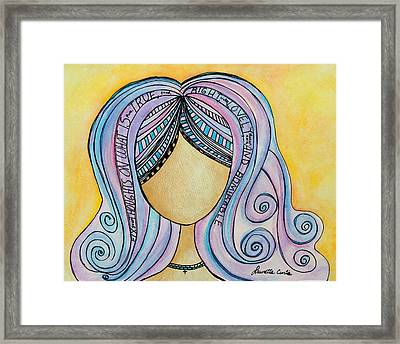 Fix Thoughts On..detailed. Framed Print by Lauretta Curtis
