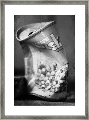 Fizz That Crushed  Framed Print